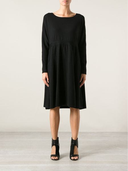 Black Loose Fitting Dresses Loose Fit Sweater Dress in