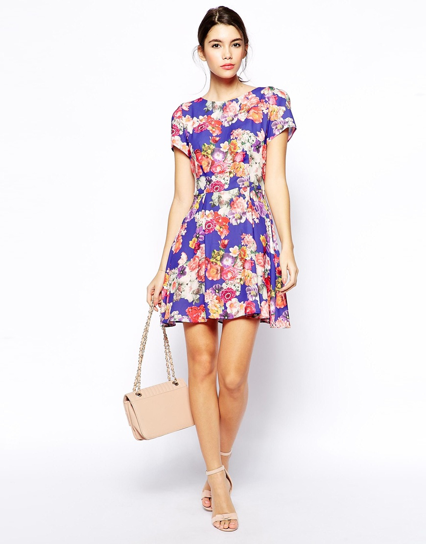 9e0ae6704b Love skater dress in bright floral mini dresses product normal jpg 870x1110 Bright  skater dress