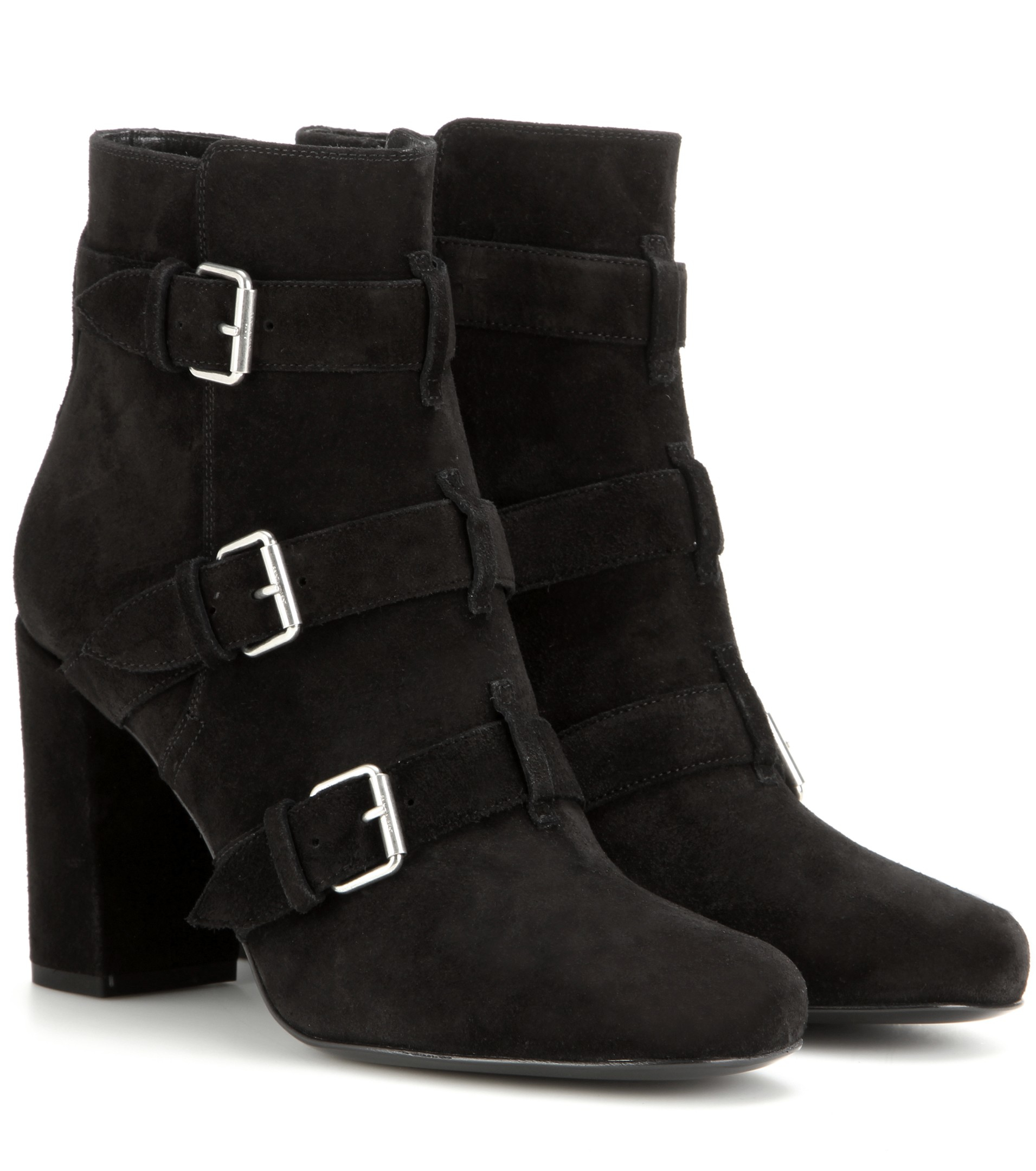 Saint Laurent Strapped Buckle Ankle Boots nUQ0hwaP
