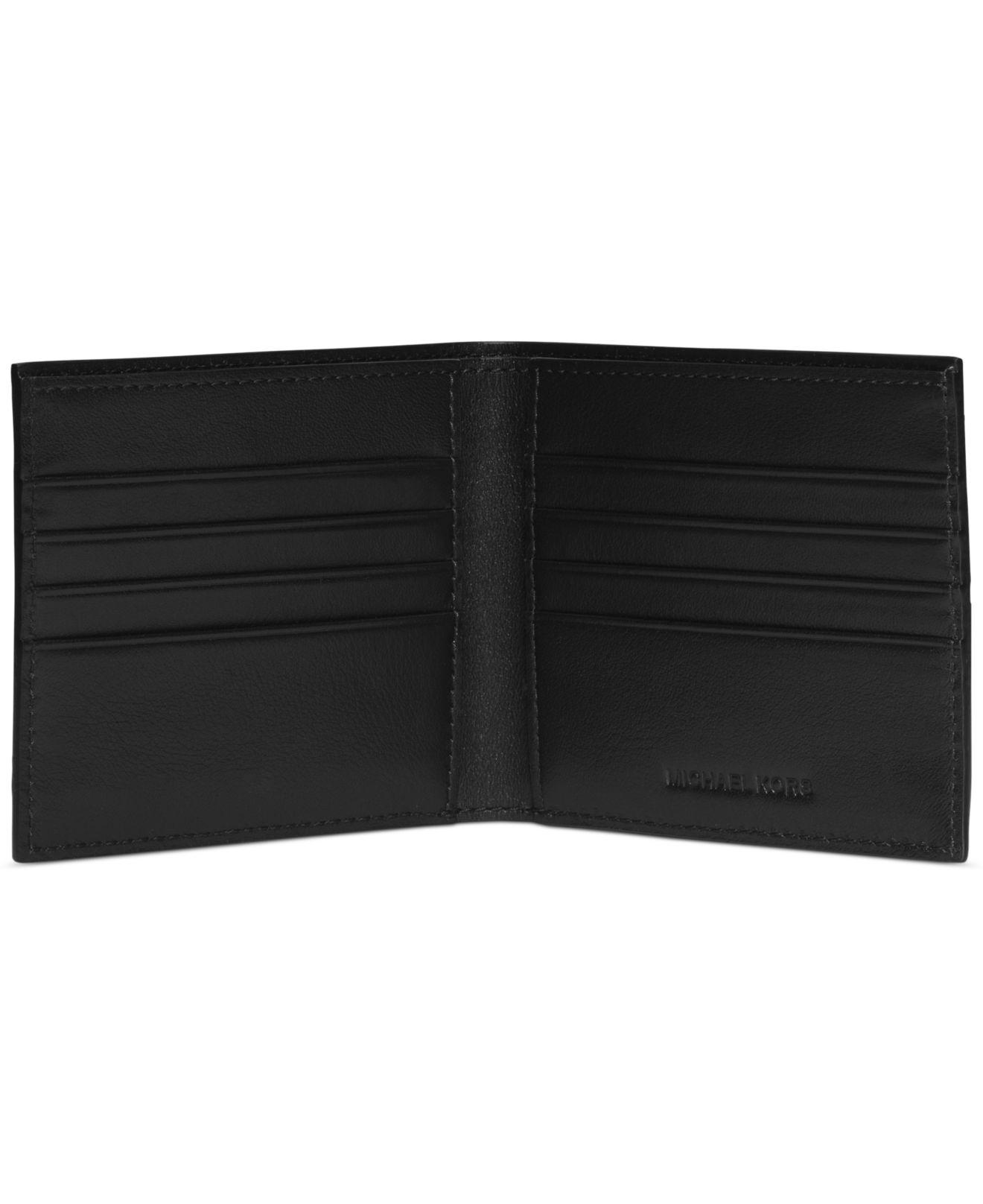 88b74ad171d498 Michael Kors Embossed Logo Jet Set Bifold Wallet in Black for Men - Lyst