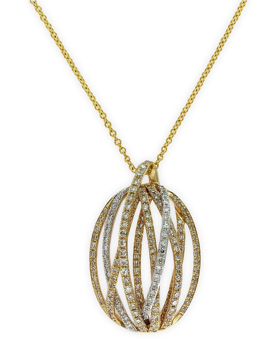 Lyst Effy Doro 14kt Yellow Gold And Diamond Pendant