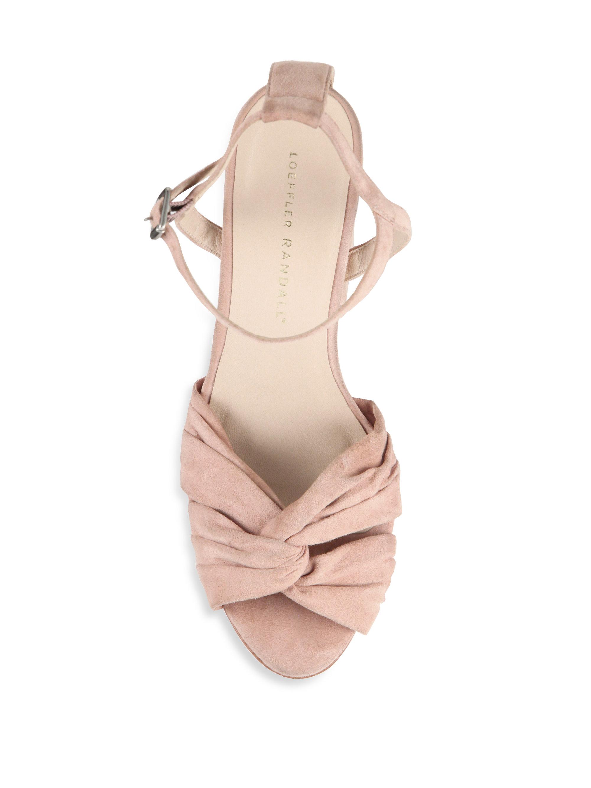 8a0076dcb77a Lyst - Loeffler Randall Arbella Suede Twist Platform Sandals in Pink