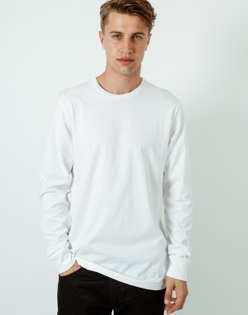 Carhartt wip long sleeve base t shirt white in white for for Carhartt long sleeve t shirts white