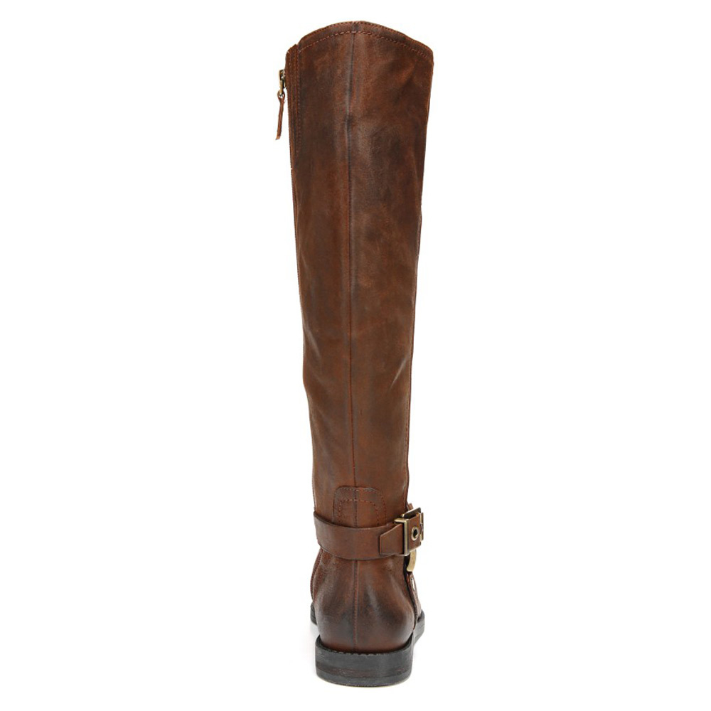 franco sarto vantage leather knee high boots in brown lyst
