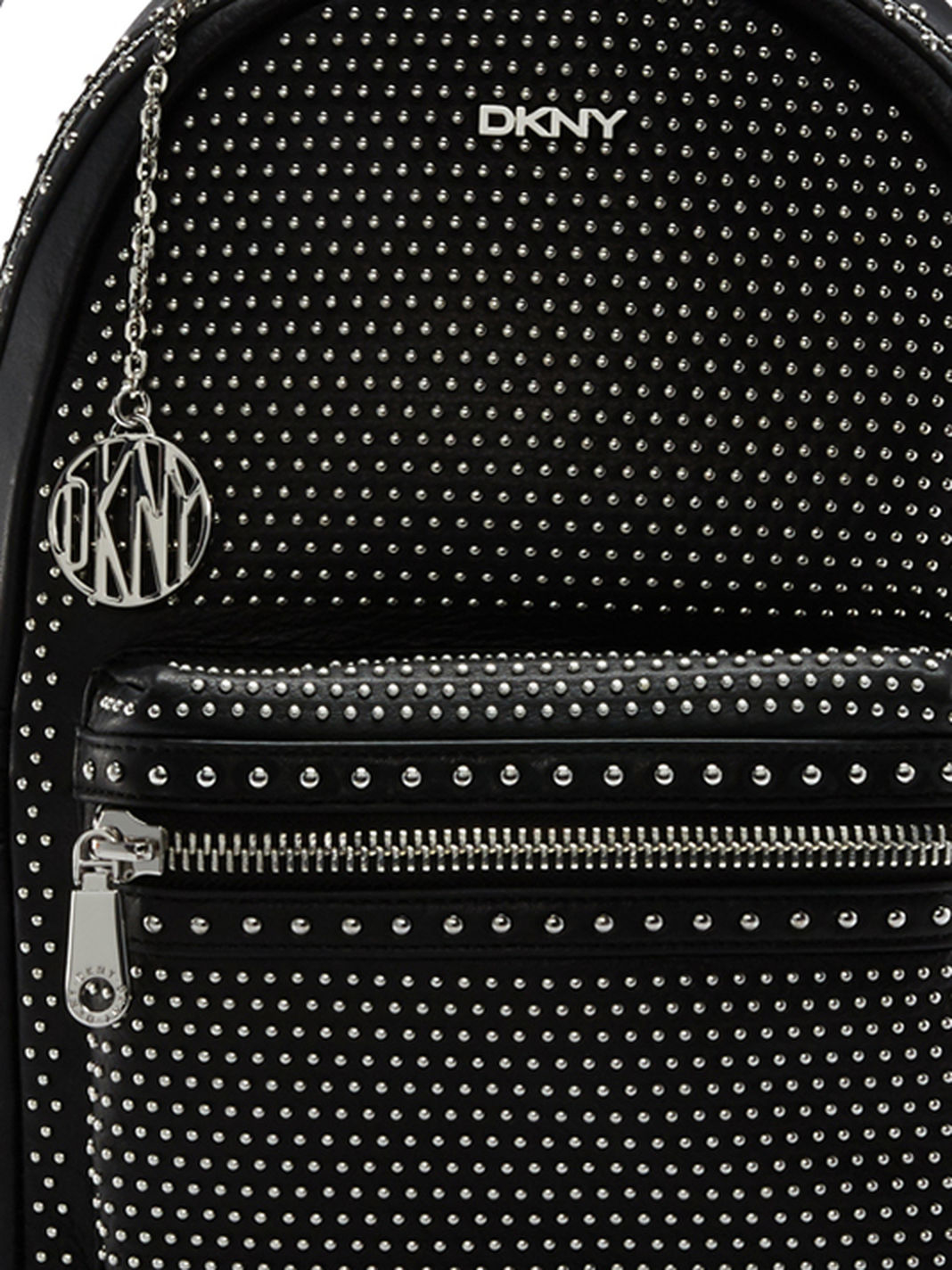Dkny Studded Leather Backpack in Black | Lyst