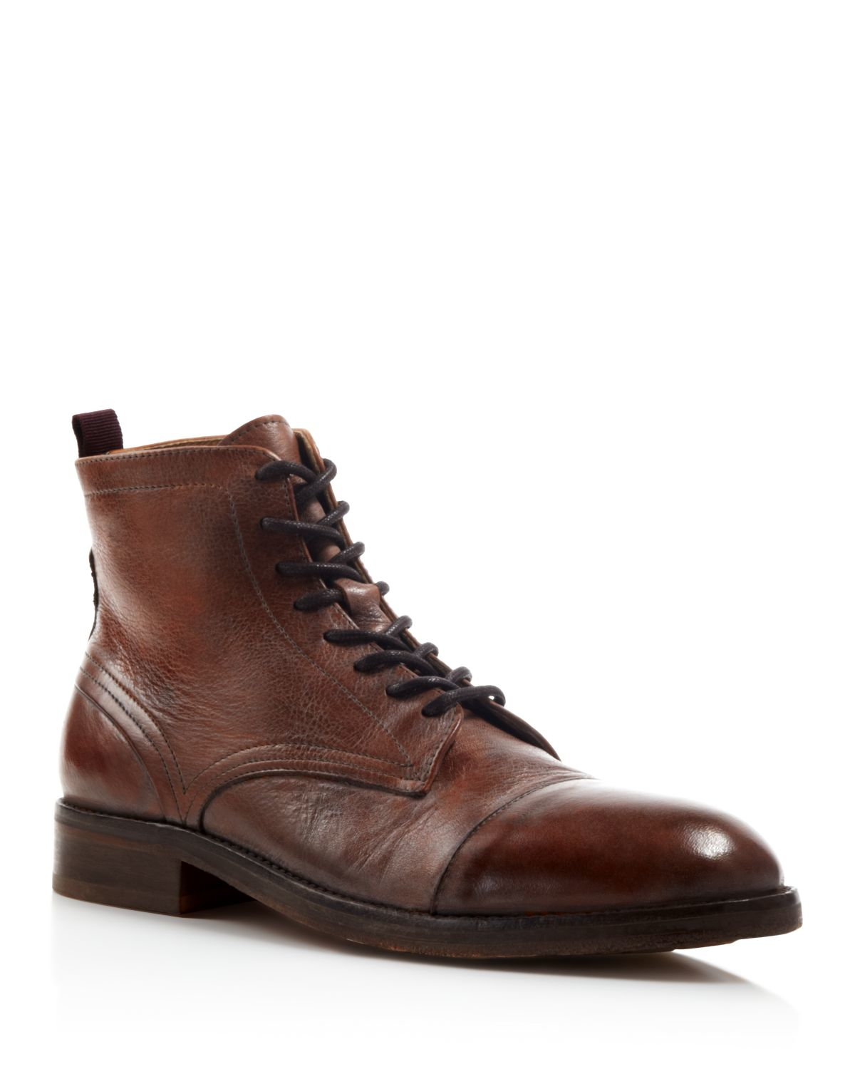 h by hudson palmer cap toe boots in brown lyst. Black Bedroom Furniture Sets. Home Design Ideas