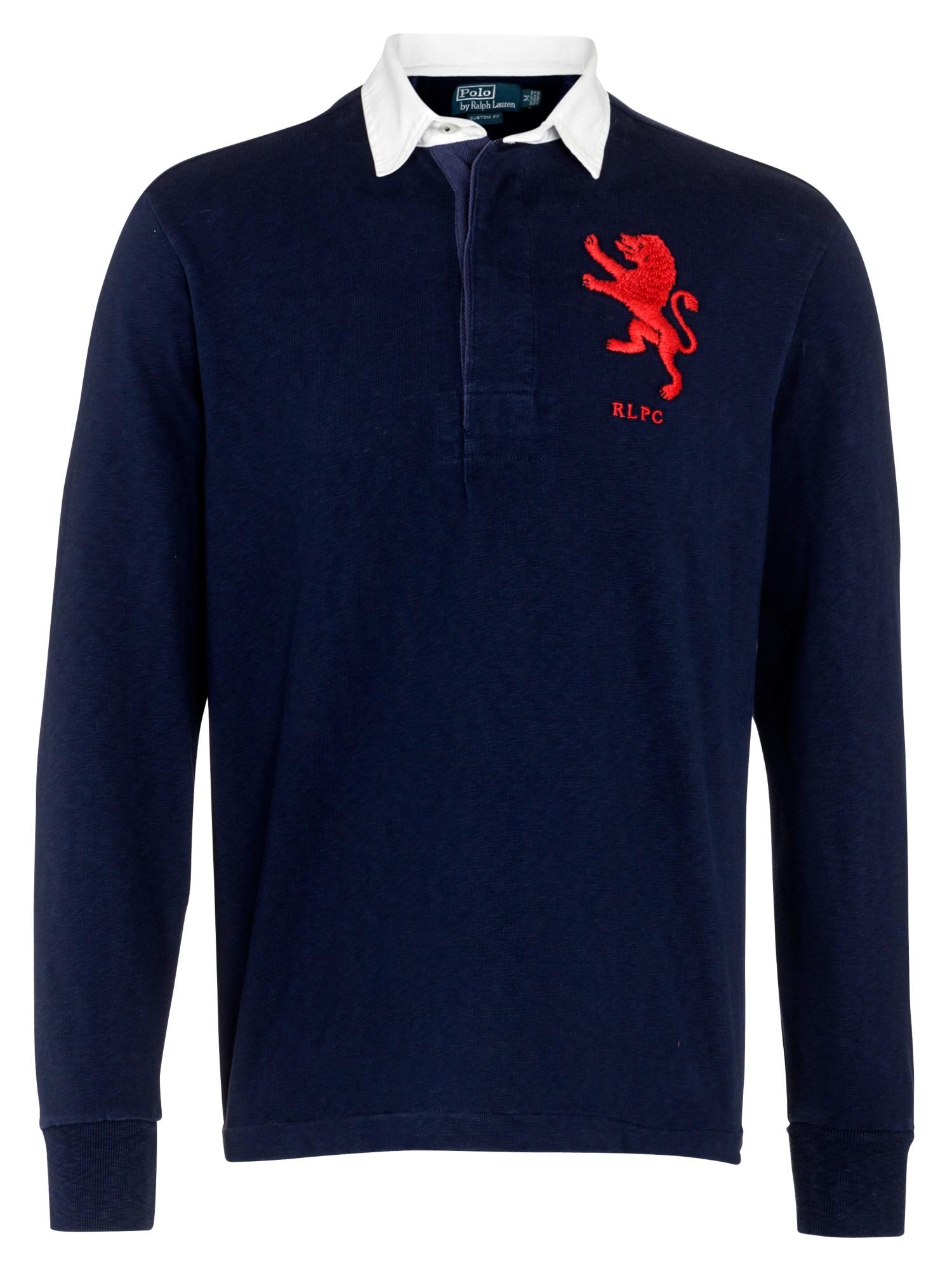 Polo ralph lauren blue lion rugby jersey top for men lyst for Ralph lauren polo jersey shirt