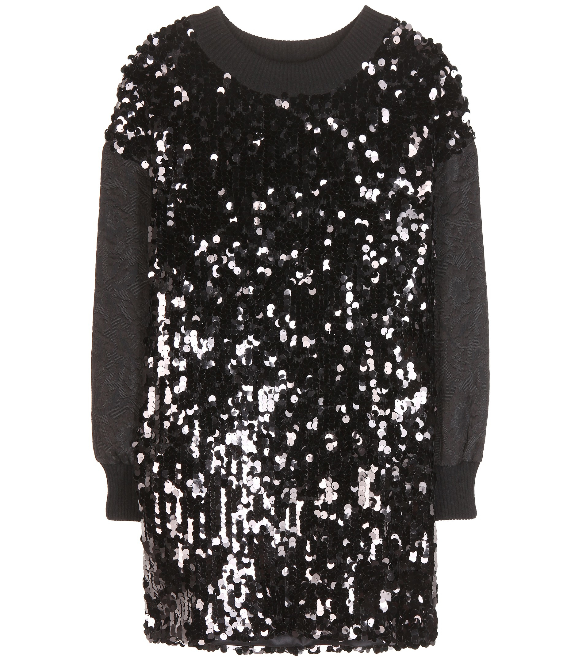 Dolce & gabbana Sequin-embellished Sweater in Black | Lyst