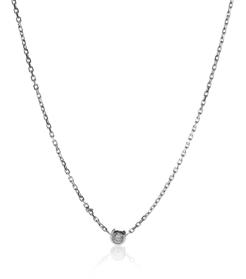 Lyst - Redline Pure White Gold Diamond Necklace in Metallic