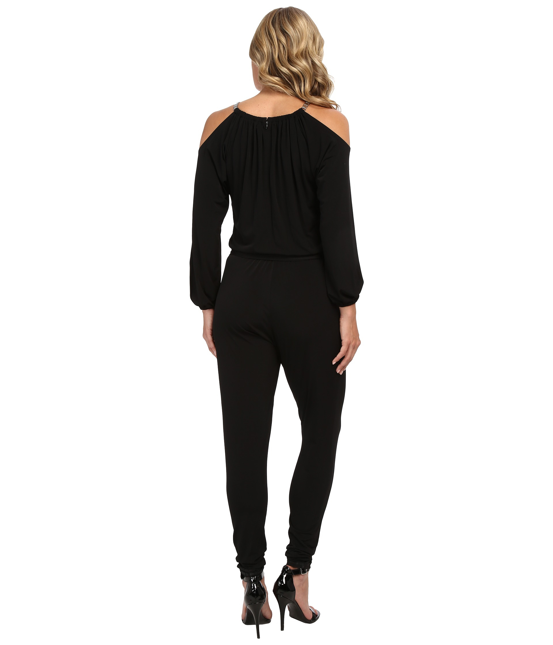 abe0c455dcb Lyst - MICHAEL Michael Kors Chain Strap Jumpsuit in Black