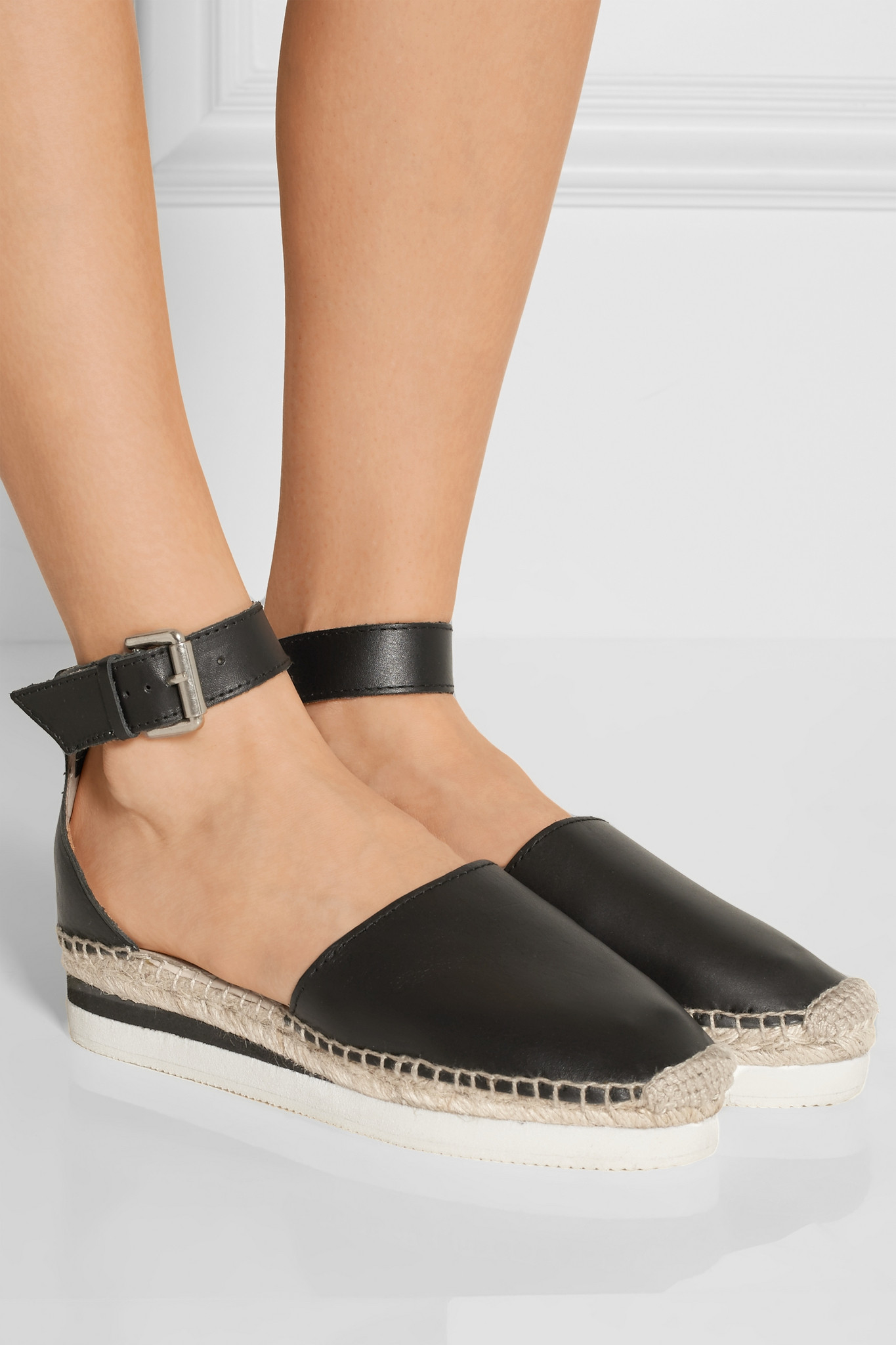 908efca3f81 See By Chloé See By Chloé - Glyn Leather Espadrilles - Black in ...