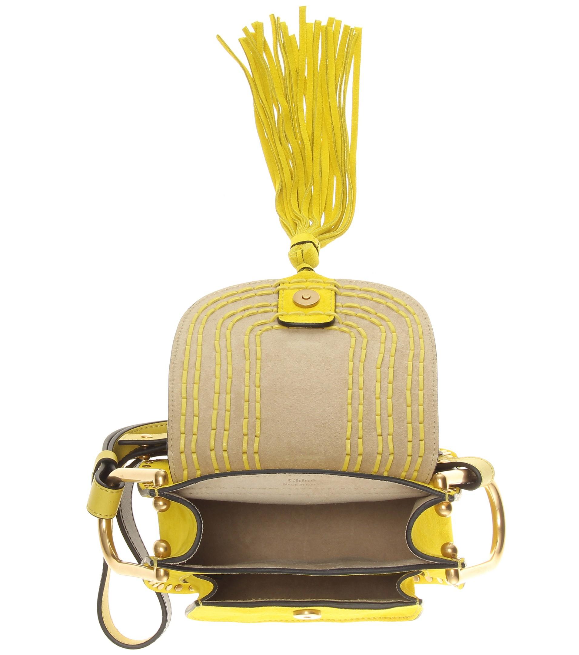 chloe bag replica - Chlo�� Hudson Small Suede Shoulder Bag in Yellow | Lyst