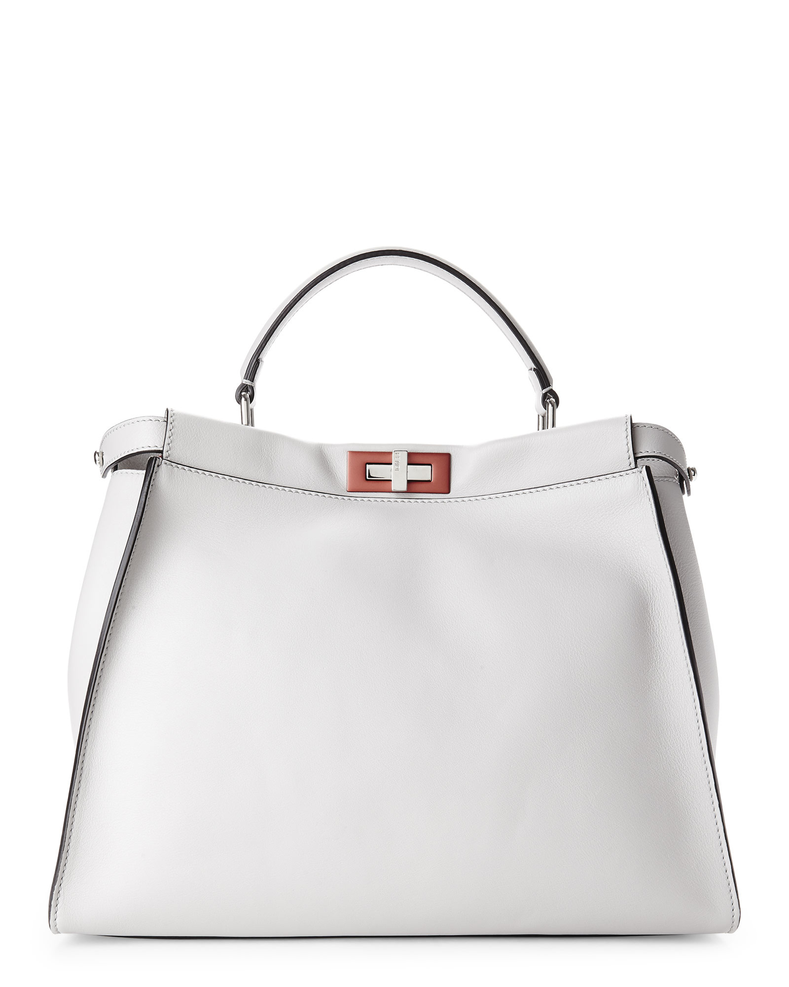 2568b03b60 Lyst - Fendi Grey Large Peekaboo Tote in Gray