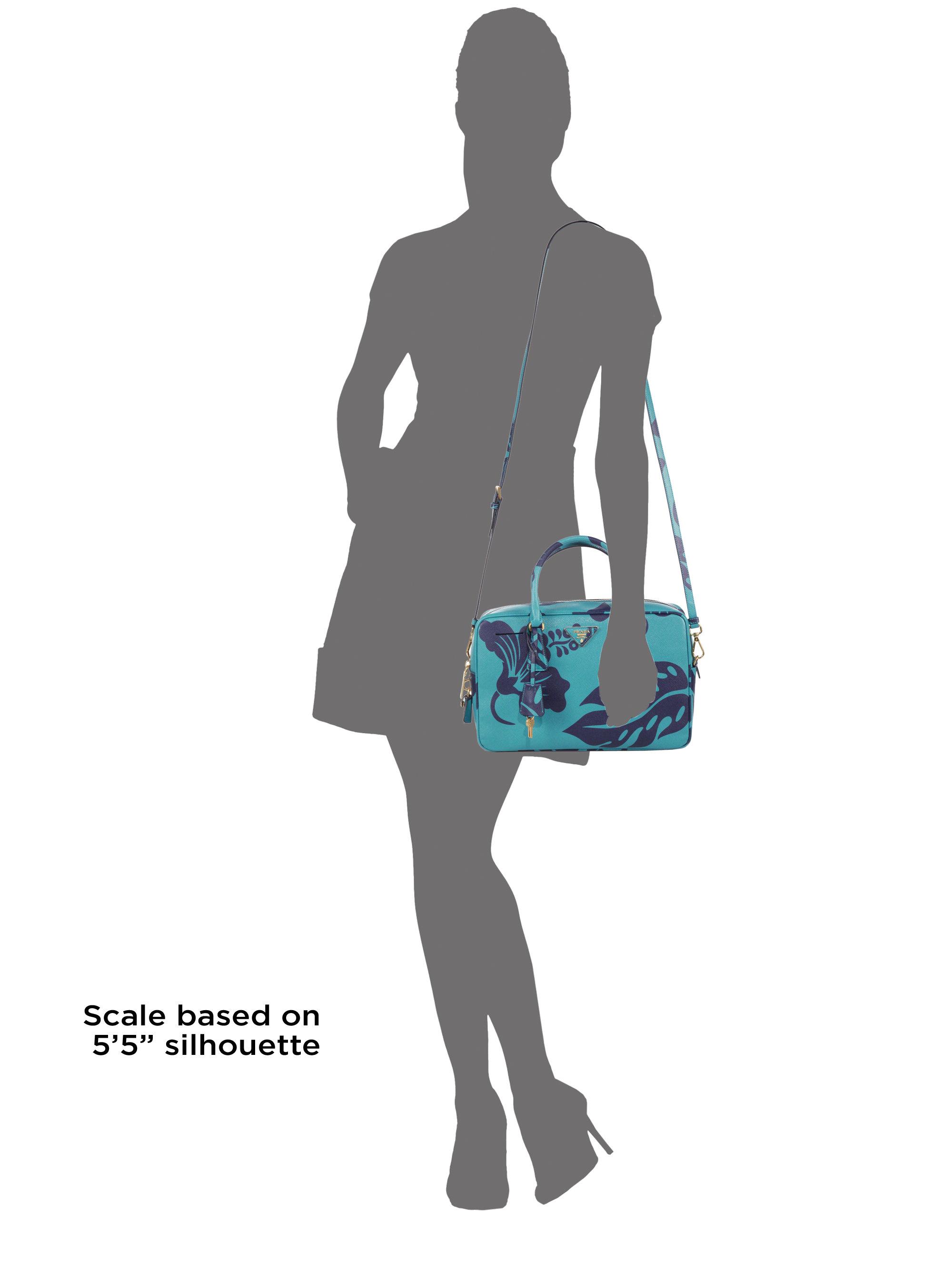 prada saffiano lux tote brown - Prada Saffiano Print Tv Bag in Blue (TURQUOISE MULTI) | Lyst