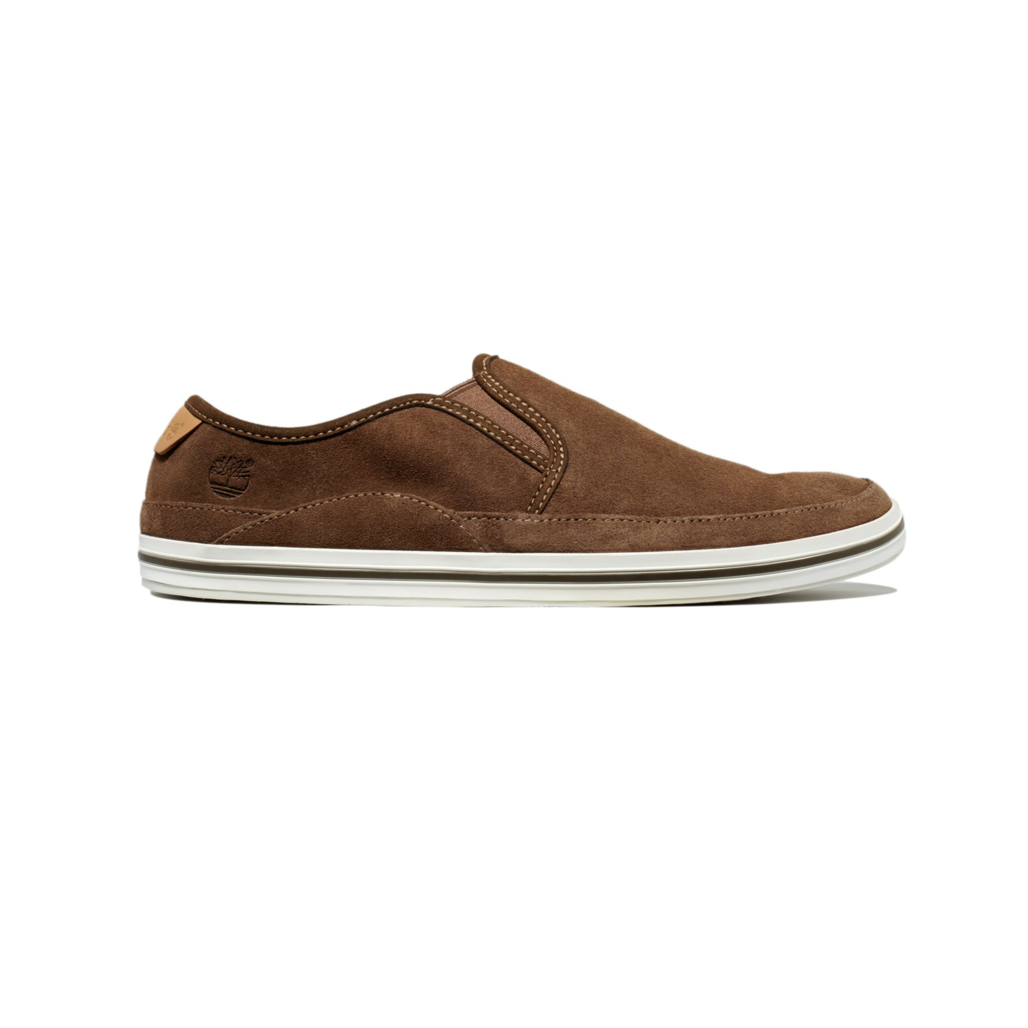 timberland earthkeepers casco bay slip on shoes in brown