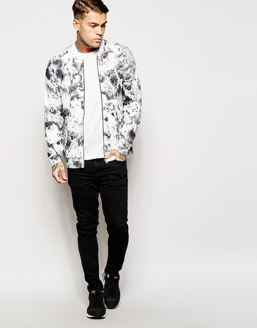 Images of White Bomber Jacket Men - Vicing