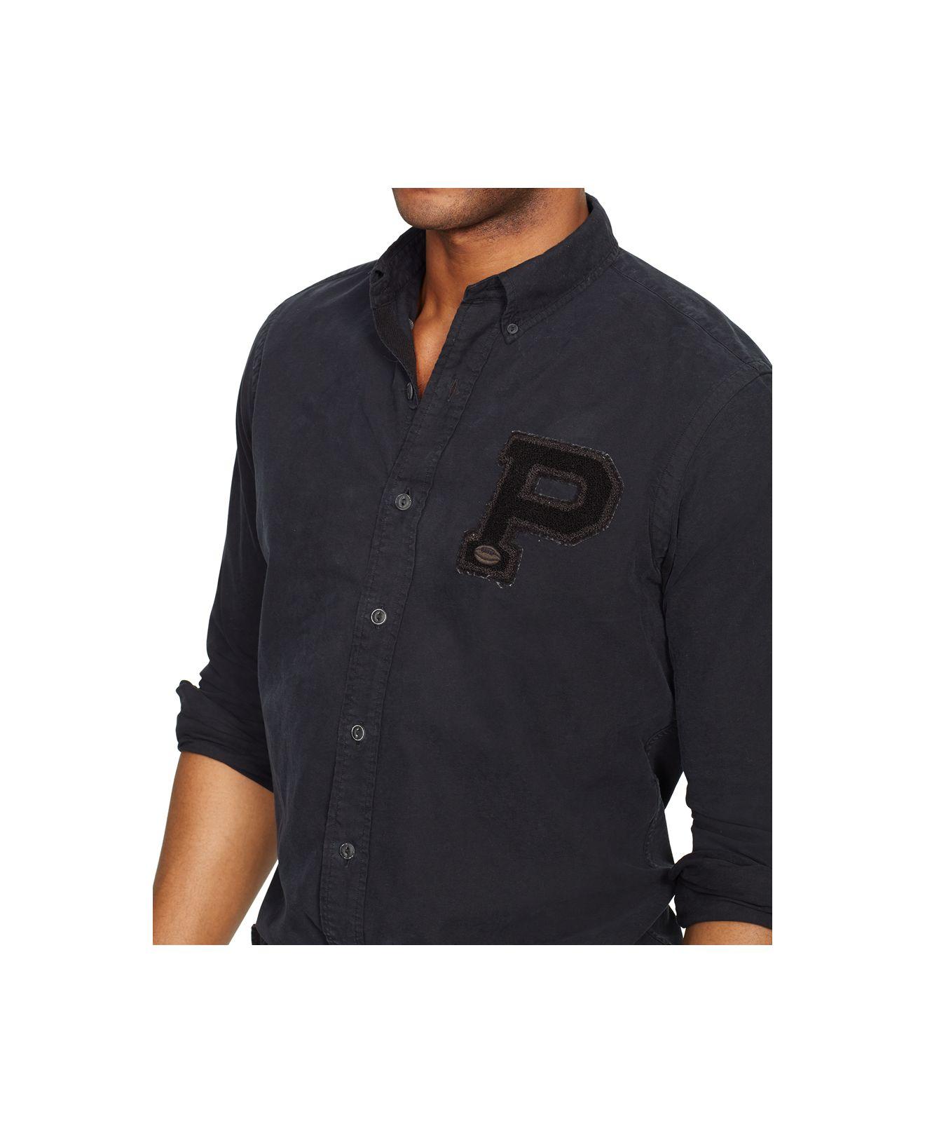 Lyst Polo Ralph Lauren Oxford Bulldog Shirt In Black For Men