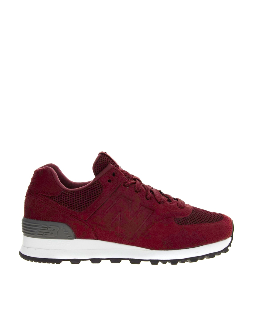 Lyst - New Balance 574 Sonic Burgundy Trainers in Red e7b546ae1d