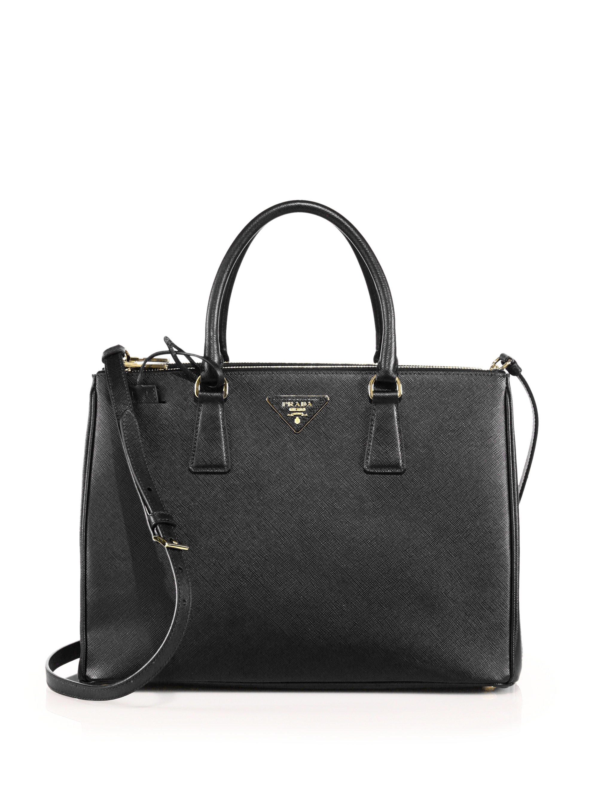 803f77ad640ea3 Prada Medium Saffiano Double Zip Bag | Stanford Center for ...