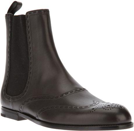 Brogue Boots Office Brogue Detail Chelsea Boot