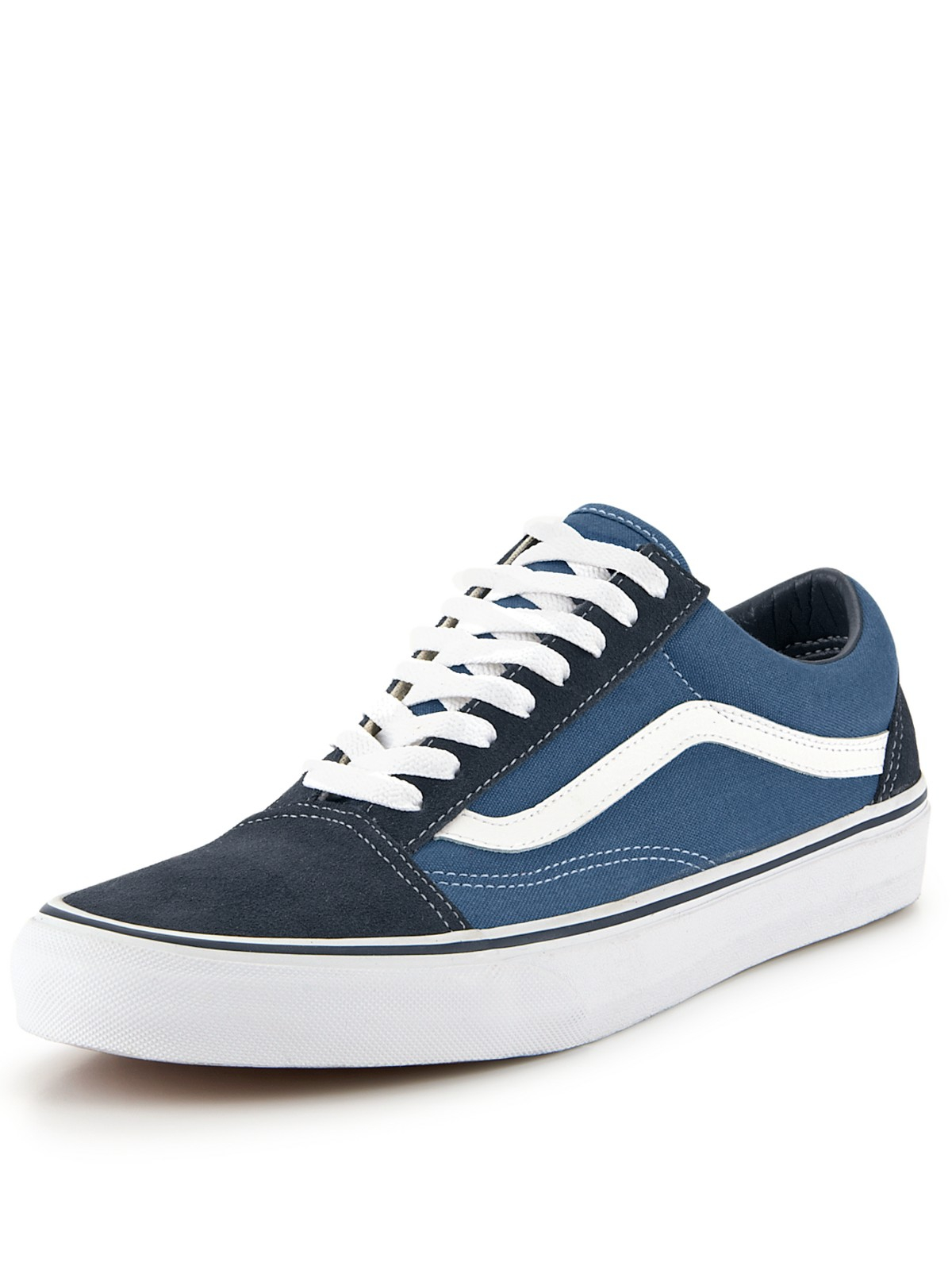 vans vans old skool mens plimsolls in blue for men navy. Black Bedroom Furniture Sets. Home Design Ideas