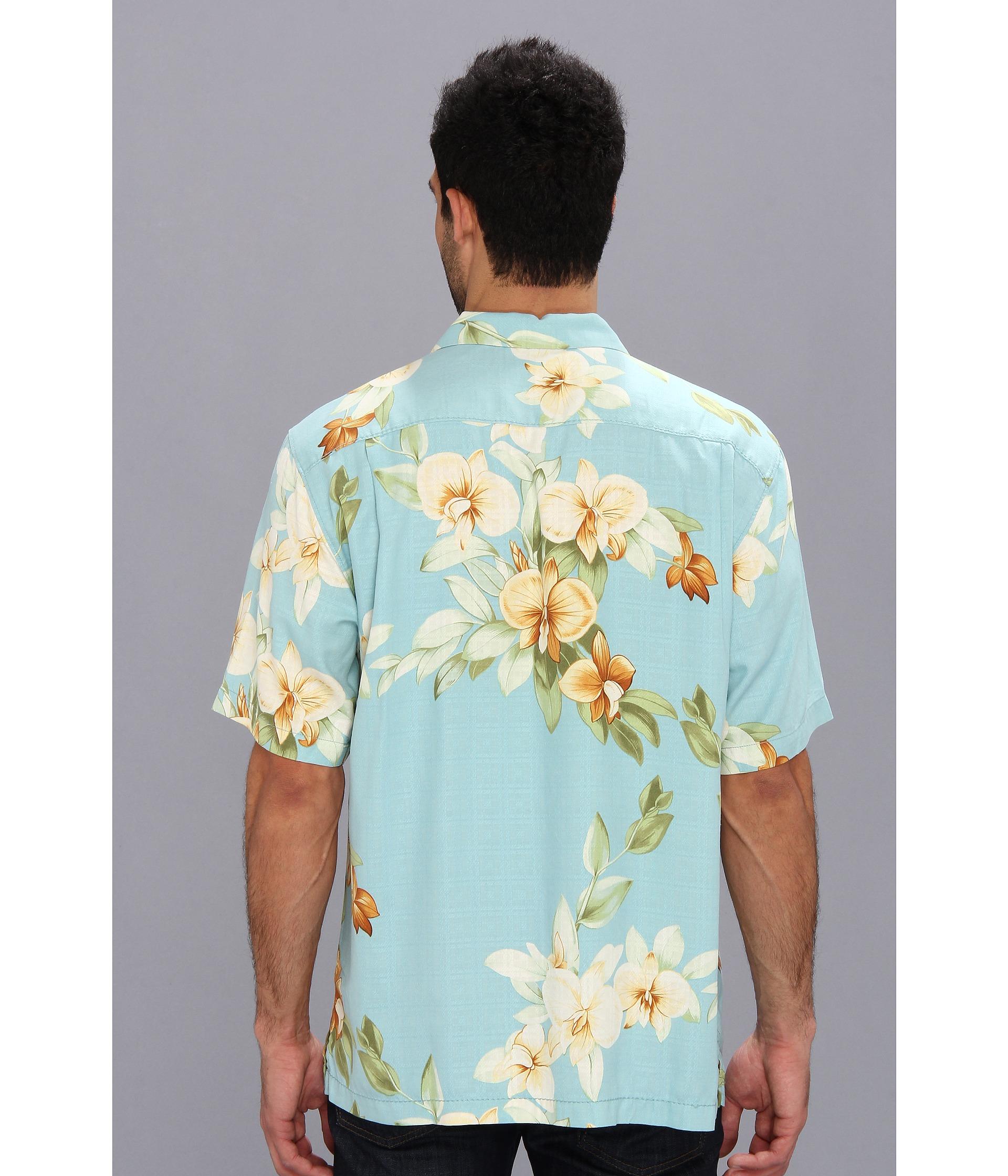 Lyst tommy bahama island modern fit treasure beach for Tommy bahama christmas shirt 2014