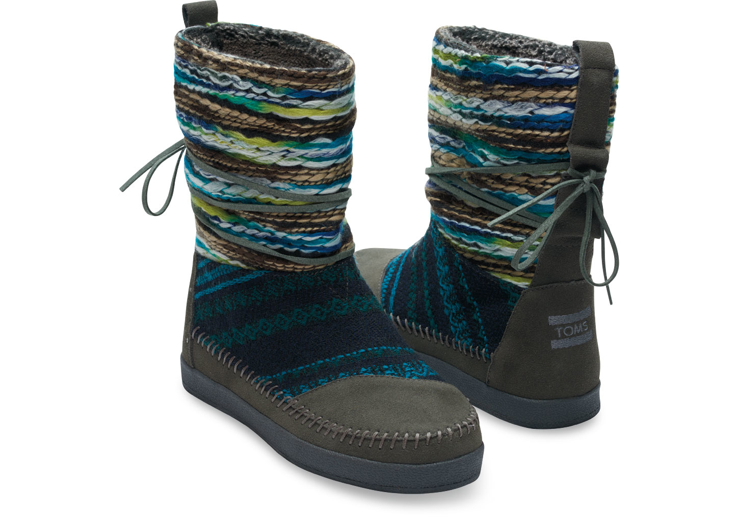 Toms Forged Iron Grey Suede Textile Mix Womenu0026#39;s Nepal Boots In Gray (Forged Iron Grey) | Lyst