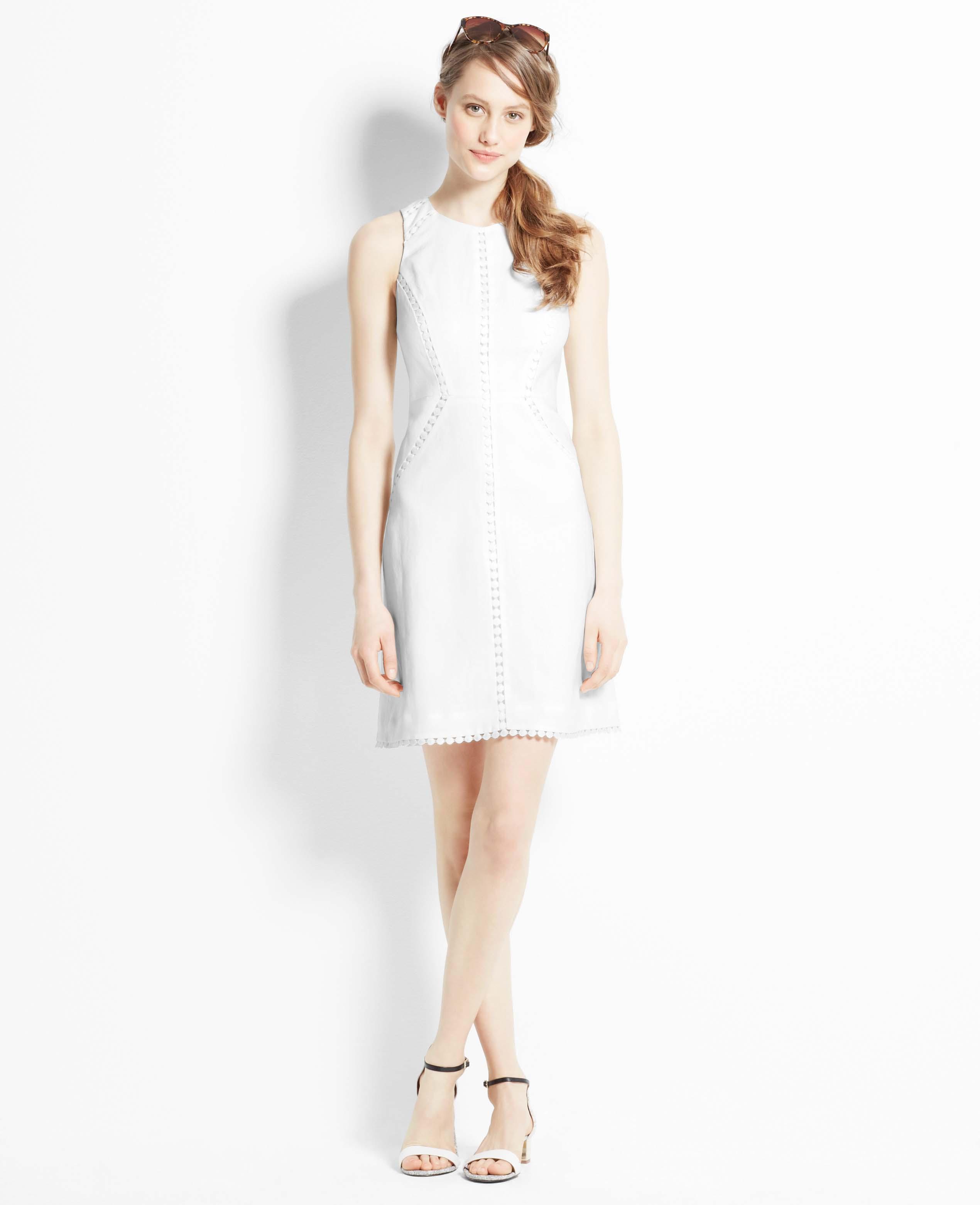 c8053ebfa36 ... style kate hudson ann taylor white dress asymmetrical trend rose gold  accents cactus los angeles gallery. Gallery Women S White Linen Dresses.  Lyst Ann ...