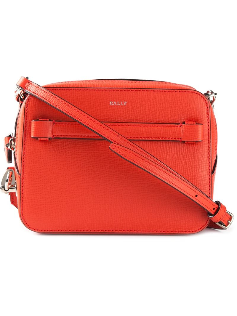 9e9b0b1fe585 Lyst - Bally Alford Leather Cross-Body Bag in Red
