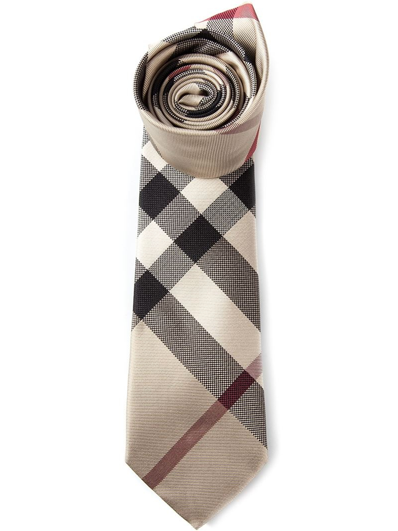 4fd95217cf62 ... australia lyst burberry house check tie in natural for men be930 4ce1d