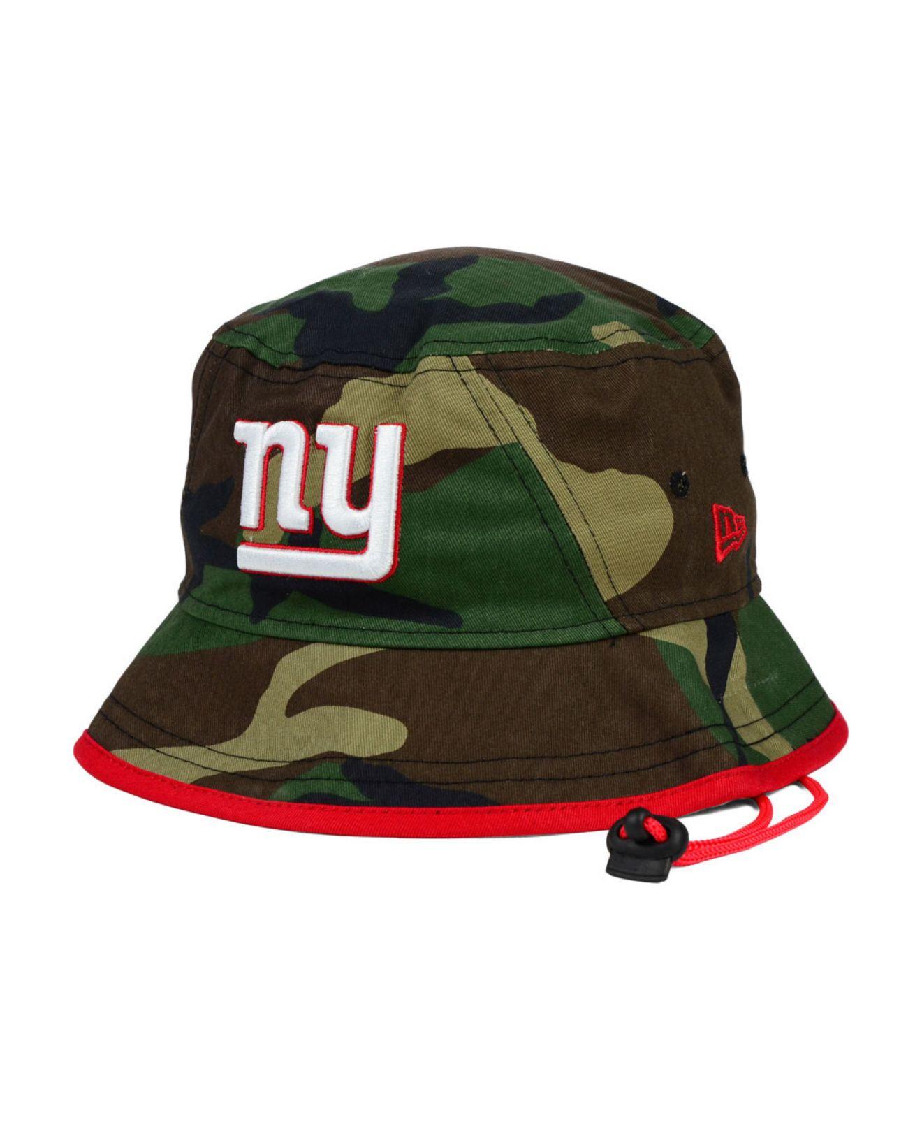 half off 680f3 73b2b ... get lyst ktz new york giants camo pop bucket hat in green for men 8ce62  c238e