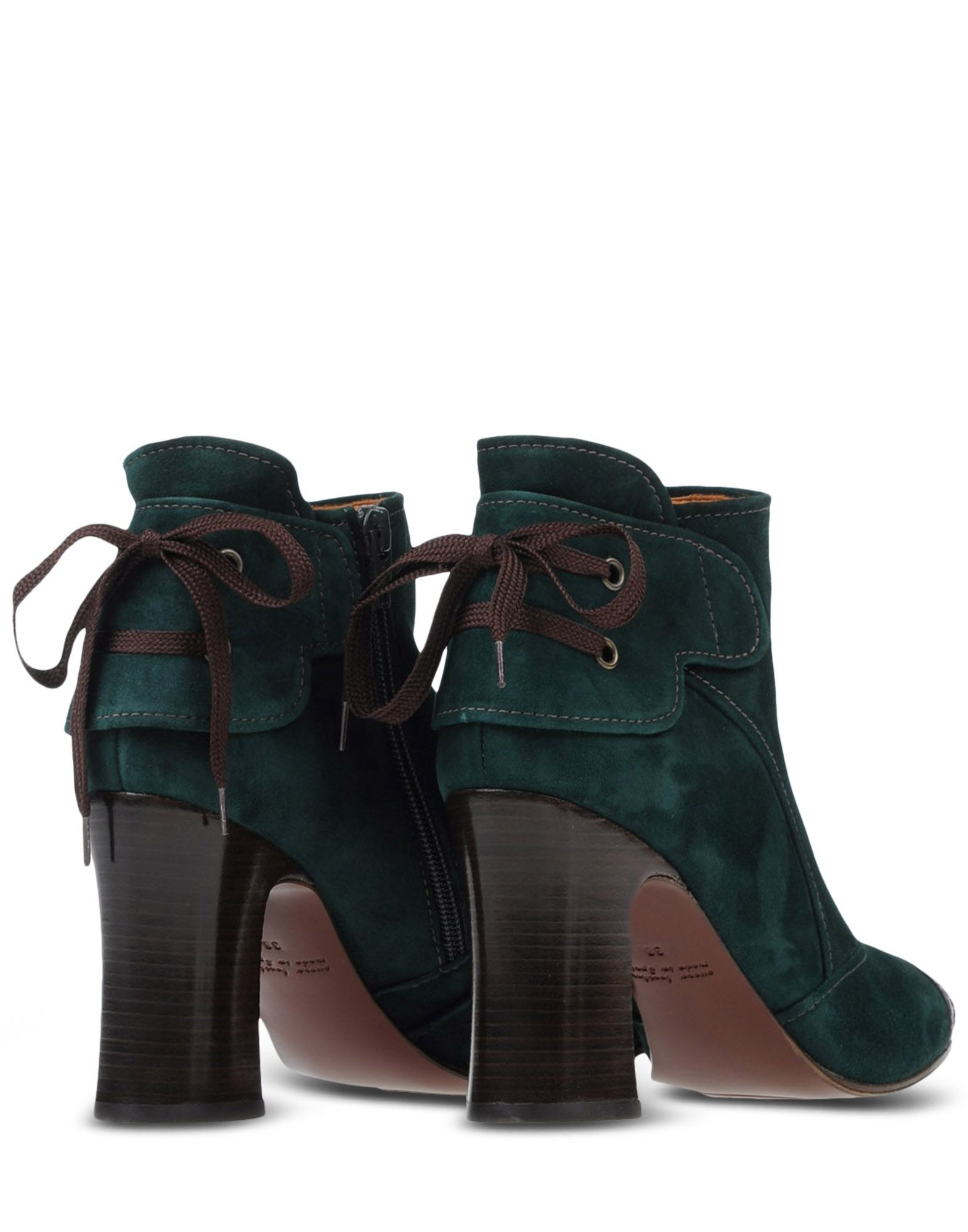 chie mihara ankle boots in green lyst. Black Bedroom Furniture Sets. Home Design Ideas