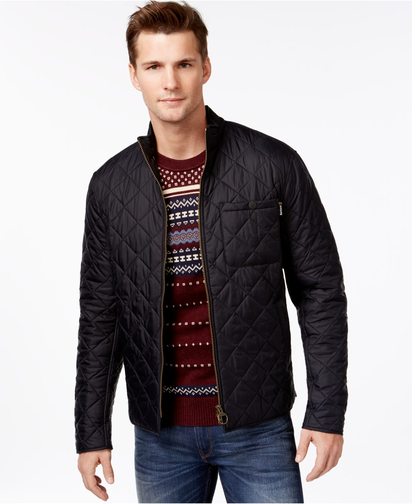 Barbour Axle Quilted Jacket in Black for Men | Lyst