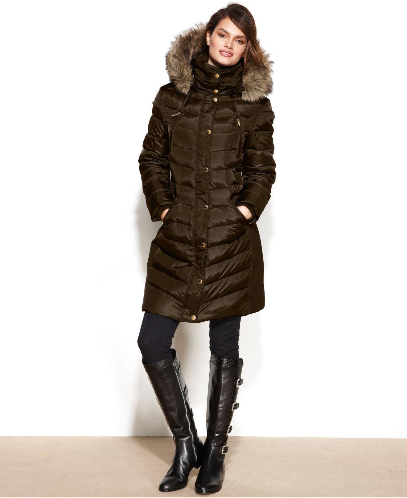 Brown Down Coat Han Coats