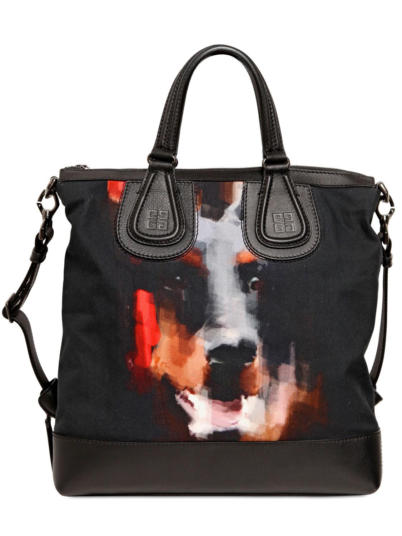 db6094334599 Lyst - Givenchy Dobermann Canvas   Leather Biker Bag in Black for Men