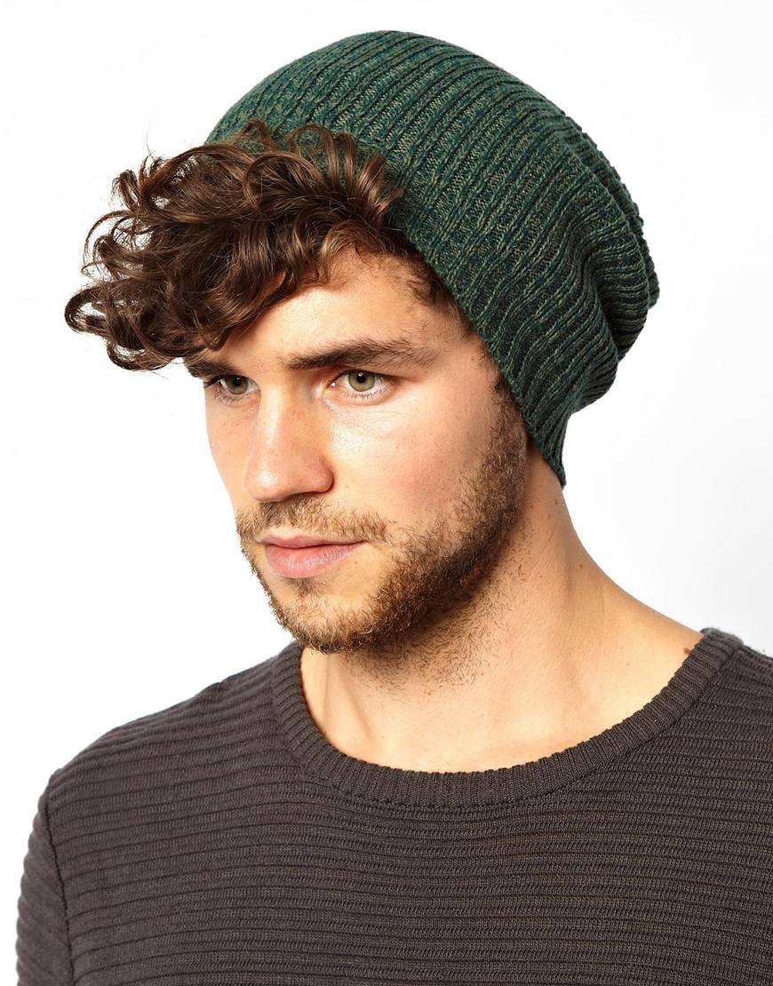 Lyst - ASOS Slouchy Beanie Hat in Green for Men d7515c0bd5a