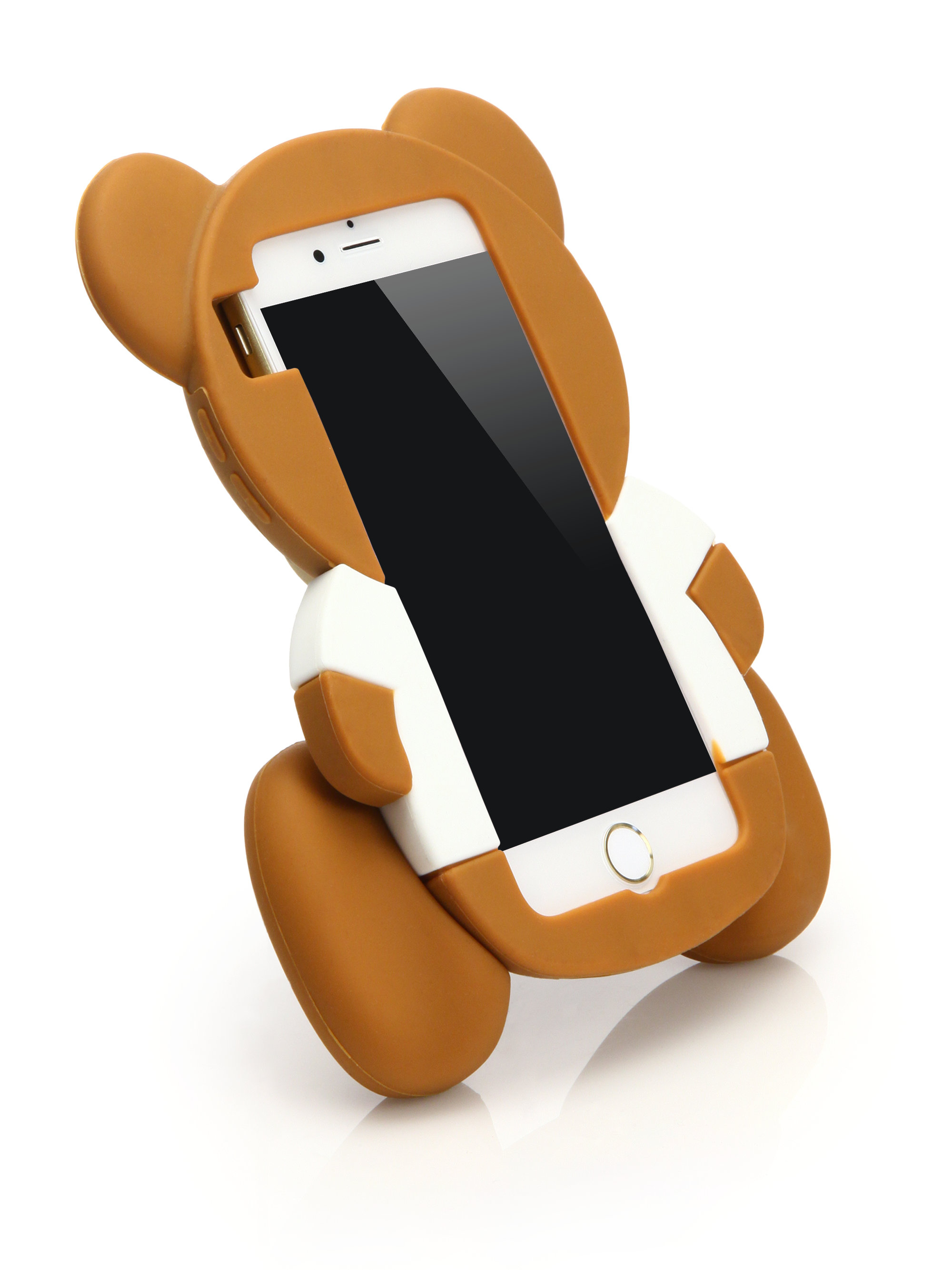 lyst moschino teddy bear iphone 6 case in brown. Black Bedroom Furniture Sets. Home Design Ideas