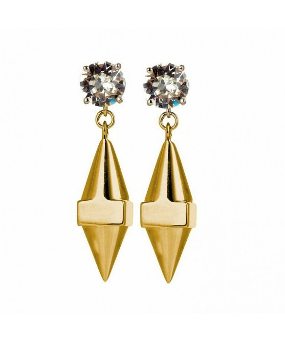 stella valle do it earrings in metallic lyst
