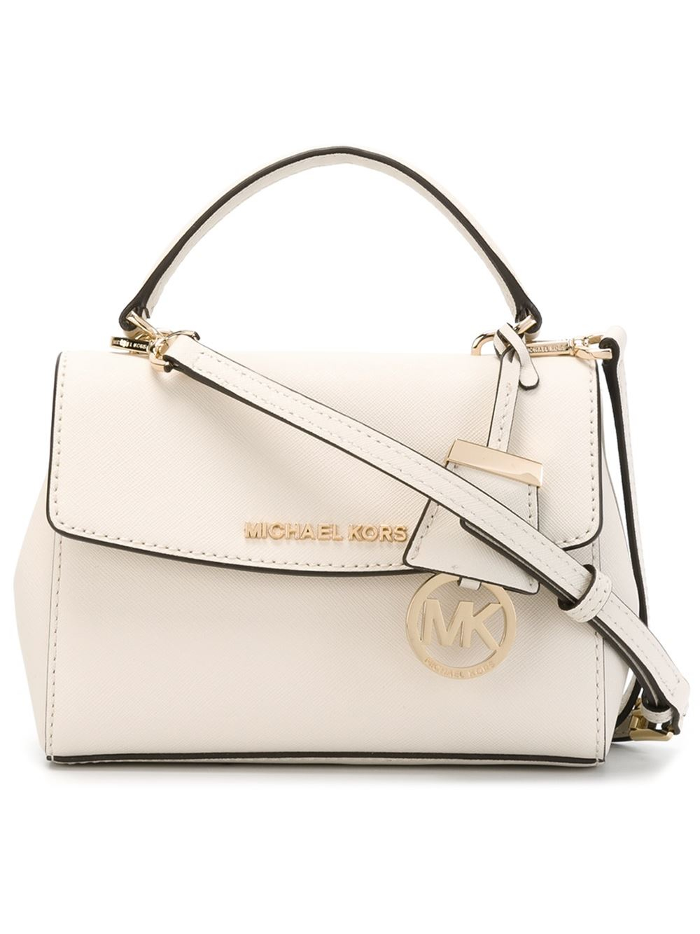 9ef647a194db Lyst - MICHAEL Michael Kors Extra Small  ava  Crossbody Bag in Natural
