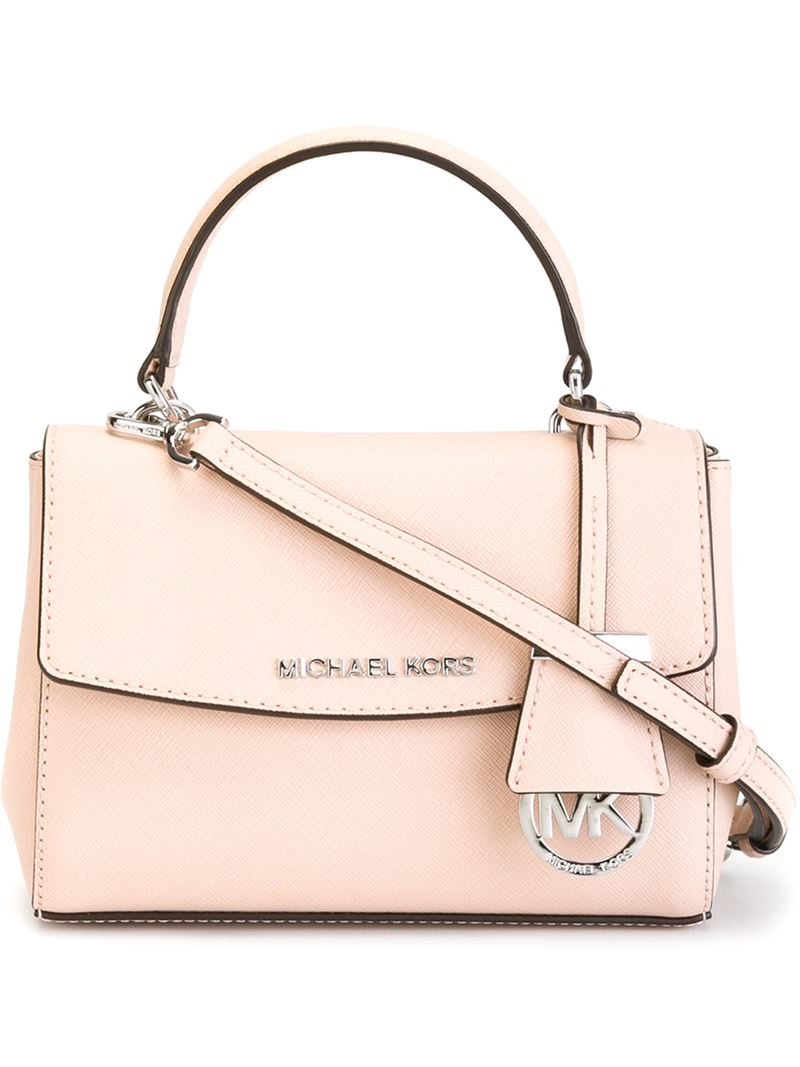 f8813c6b3db4 Lyst - MICHAEL Michael Kors Extra Small  ava  Crossbody Bag in Pink