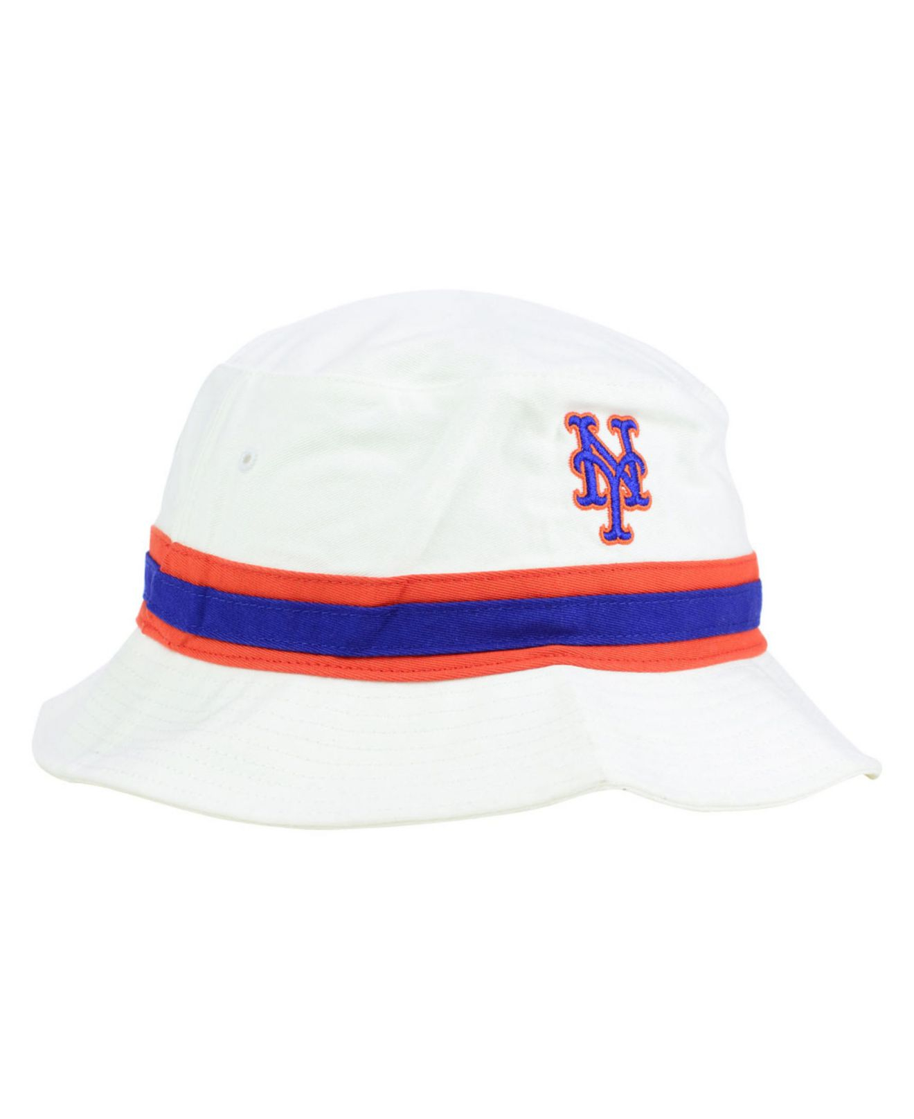 new product f0d70 c2da4 ... promo code for lyst 47 brand new york mets striped bucket hat in white  78e9a 2c0f0 discount ...