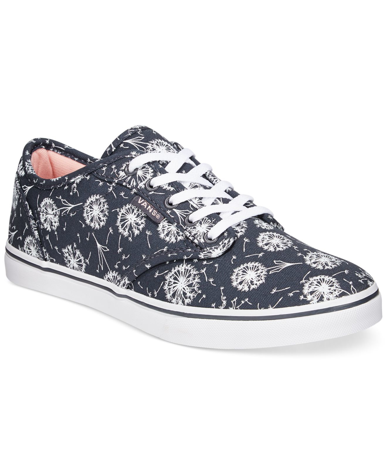 7e9c44687eb8 Lyst - Vans Women s Atwood Low Dandelion Lace-up Sneakers in Blue