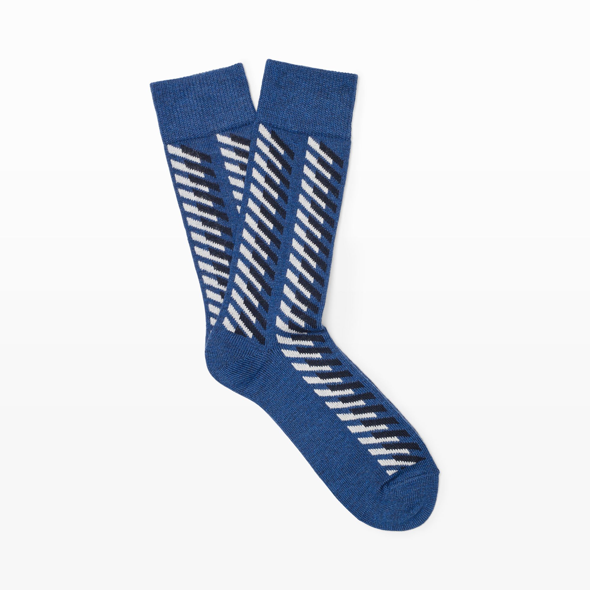 Knitting Pattern For Ski Socks : Club monaco Vintage Ski Motif Sock in Blue for Men Lyst