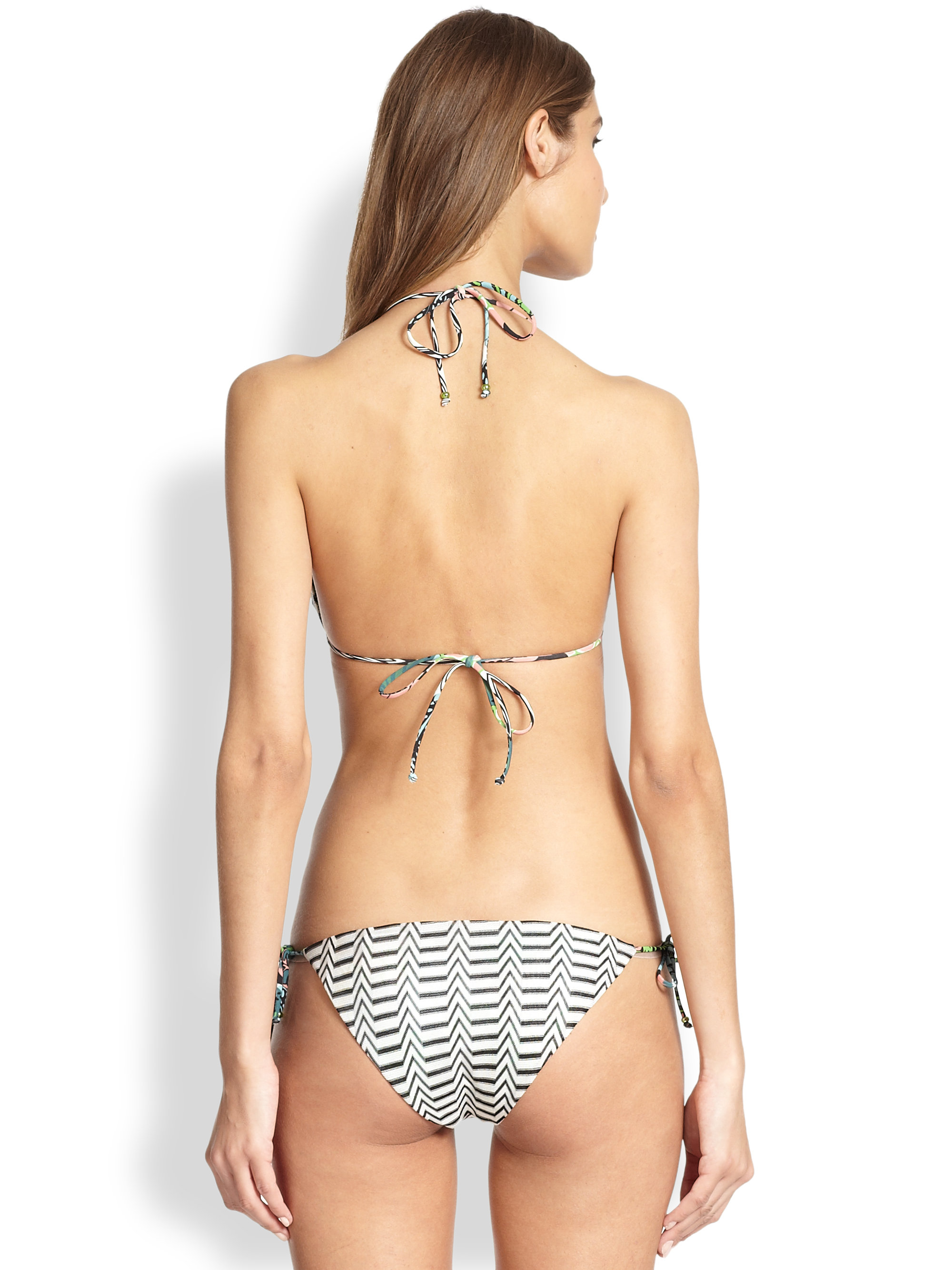 Missoni Two-Piece Reversible String Bikini in Black