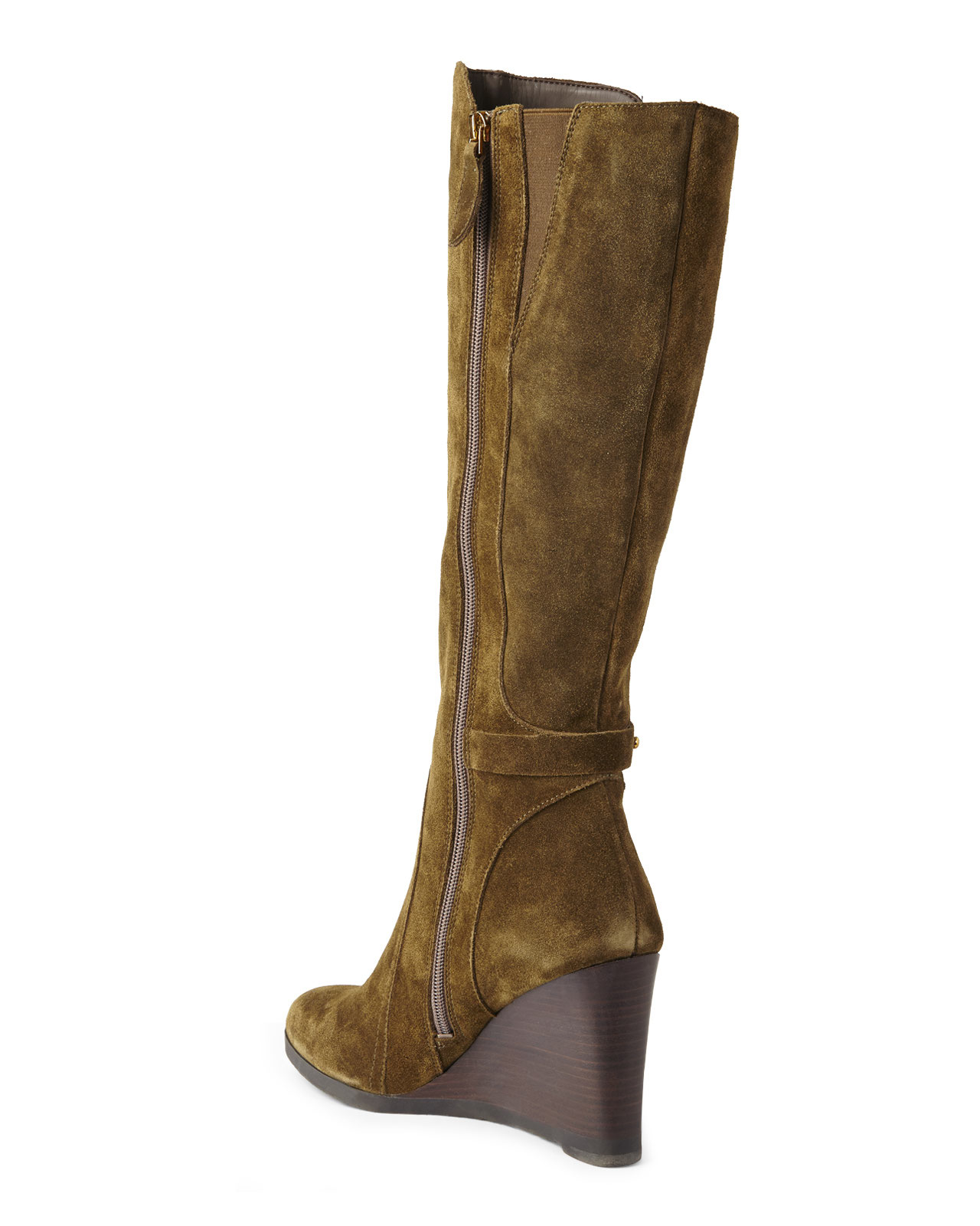Gallery - Franco Sarto Olive Wedge Tall Boots In Green Lyst