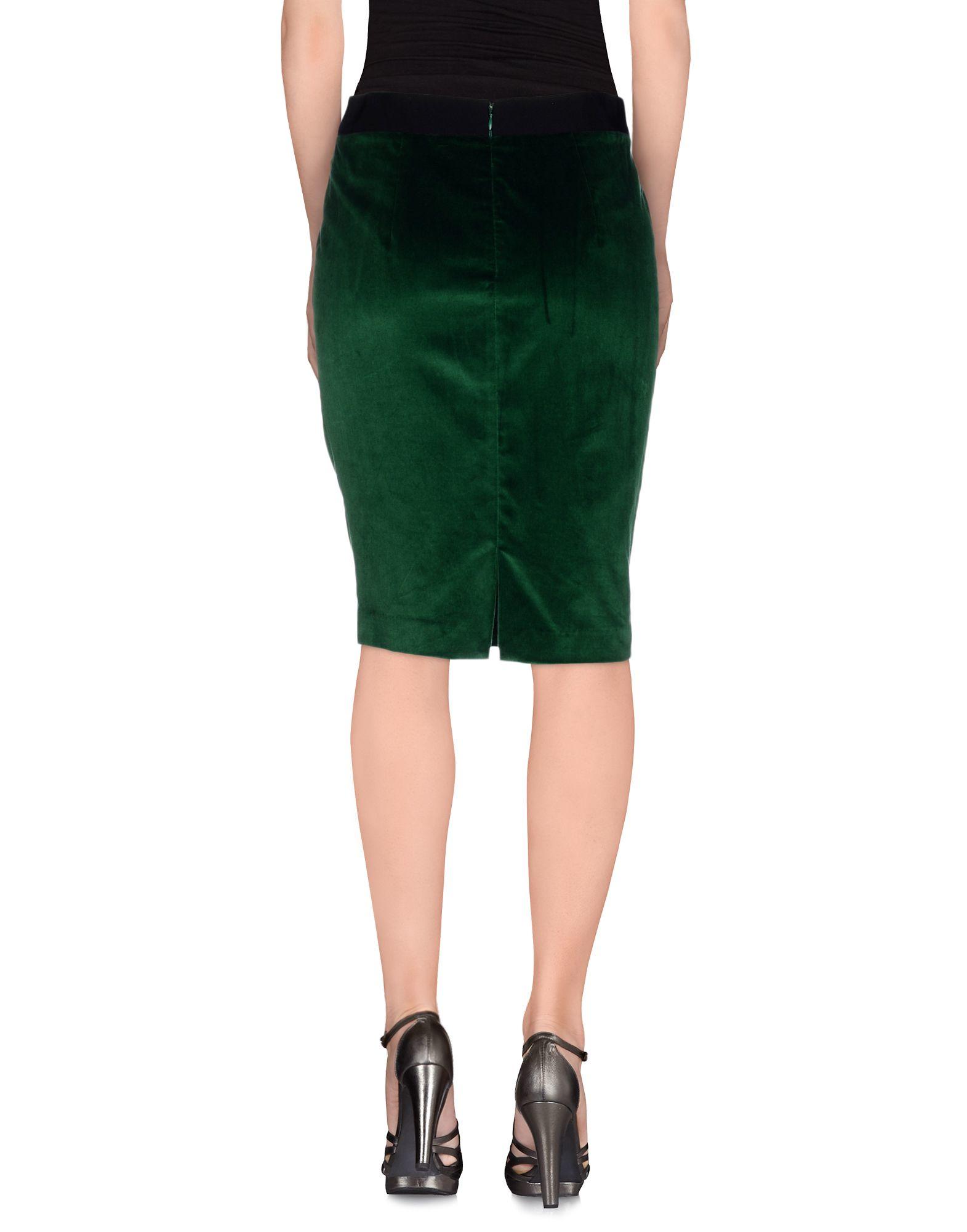 roberta scarpa knee length skirt in green lyst