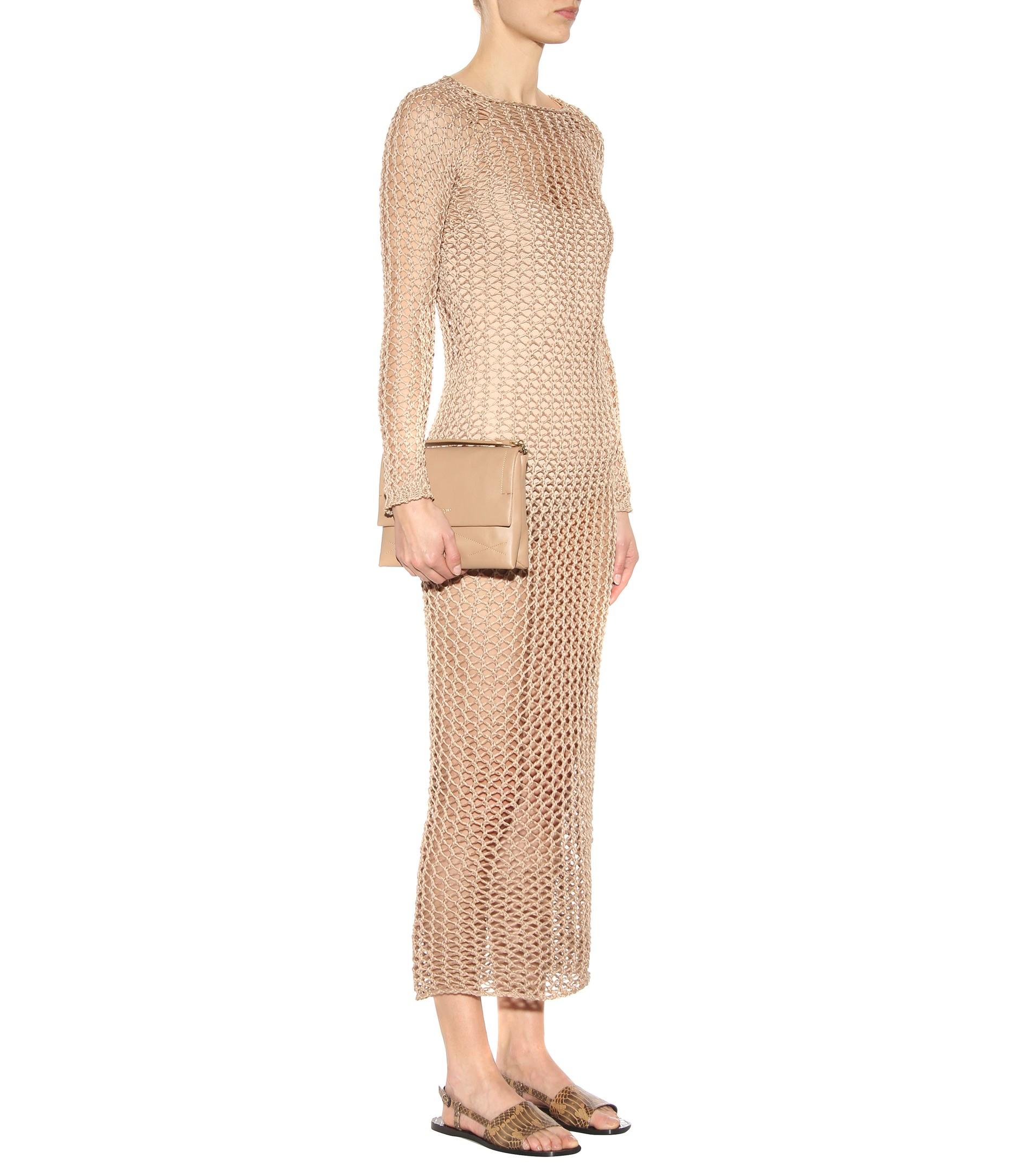 Cotton crochet maxi dress