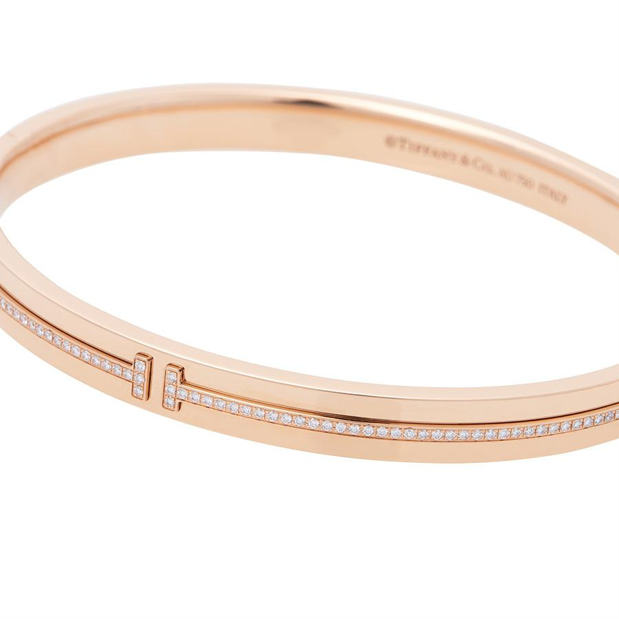 a788b5146 Tiffany & Co. Tiffany T Collection - Two Hinged Bracelet in Metallic ...