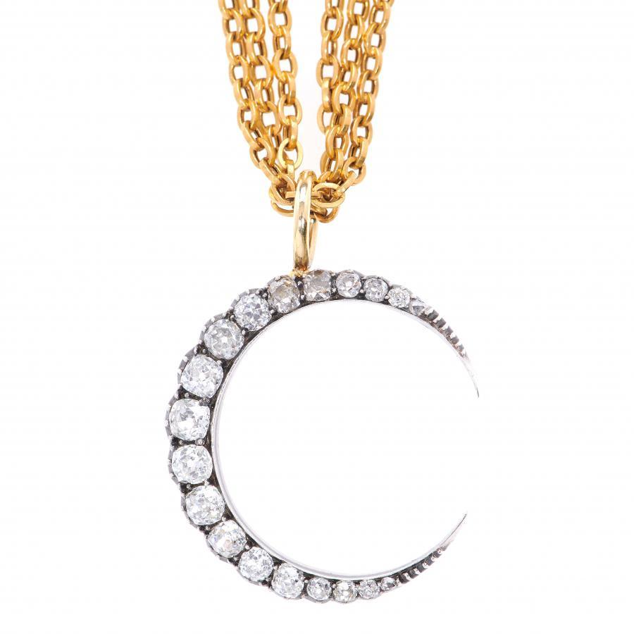 e417d1a407d4 Toni chloë goutal yellow single row diamond crescent necklace view  fullscreen jpg 900x900 Crescent chloe goutal