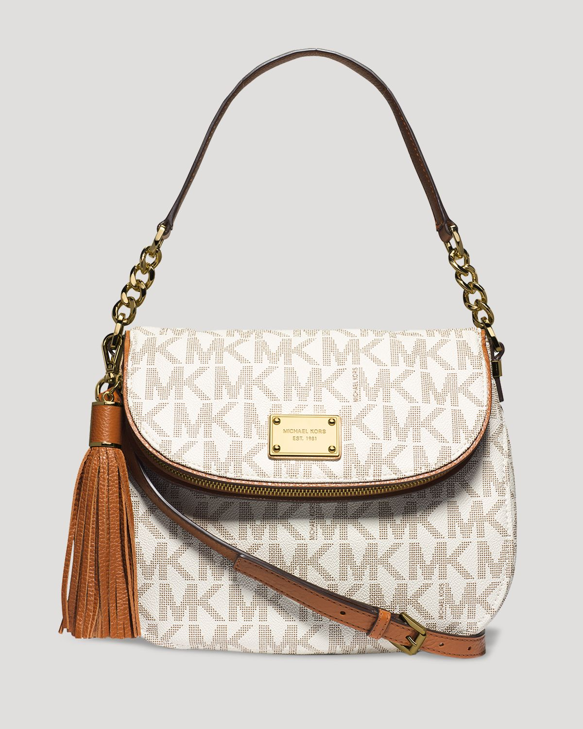 5510b1c34a2e purchase michael kors medium bedford convertible crossbody 50216 12dfc;  cheapest lyst michael michael kors shoulder bag medium bedford tassel 41845  fb52d